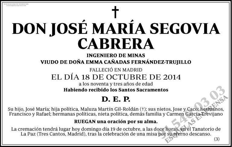 José María Segovia Cabrera